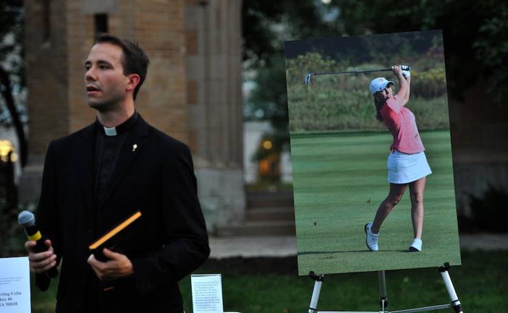Emotiva vigilia para despedir a Celia Barquín en la Universidad de Iowa