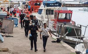 Rescatados 126 ocupantes en once pateras frente a la costa de Cartagena