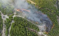 Controlado un incendio forestal en Sierra de Sopalmo, en Cieza