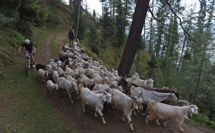 Pedaleando en el Himalaya