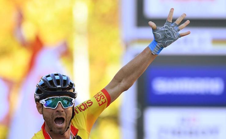 Así ha sido la victoria de Alejandro Valverde en el Mundial de ciclismo