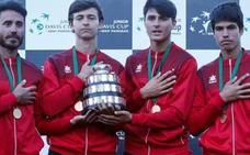 El murciano Carlos Alcaraz se proclama campeón de la Copa Davis Júnior con España
