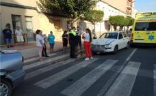 Una colisión entre dos turismos hiere de gravedad a una anciana en Las Torres