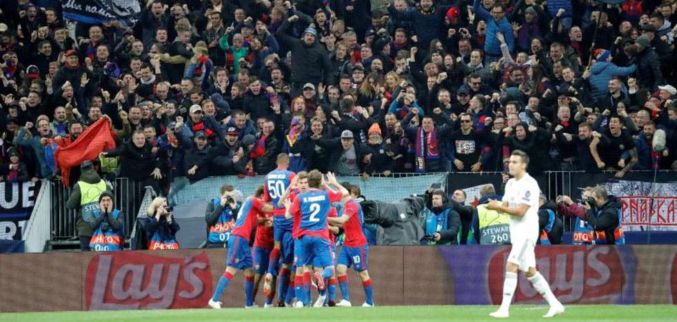 El Real Madrid maldice otra visita a Moscú