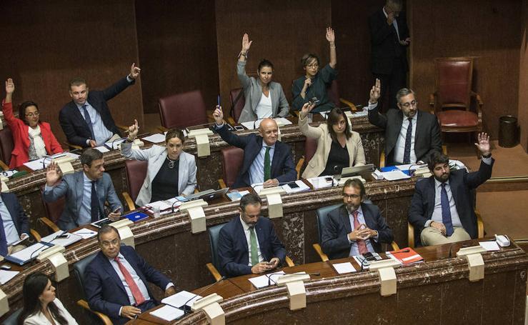 El pleno de este lunes en la Asamblea Regional