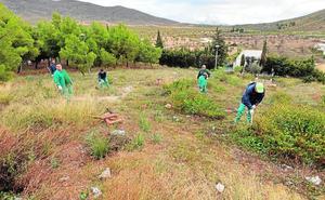 Una brigada de peones agrícolas desempleados pondrá a punto las pedanías de Lorca