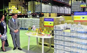 Repartirán 1,3 millones de kilos de comida entre familias sin recursos