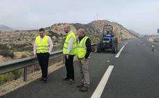 La Consejería mejora la visibilidad en la autovía que comunica Zeneta con San Javier