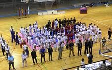 150 luchadores participan en la exhibición de taekwondo de los Juegos Deportivos del Guadalentín