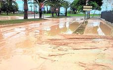 Exigen el arreglo del parque de La Isla de Alhama para prevenir los arrastres