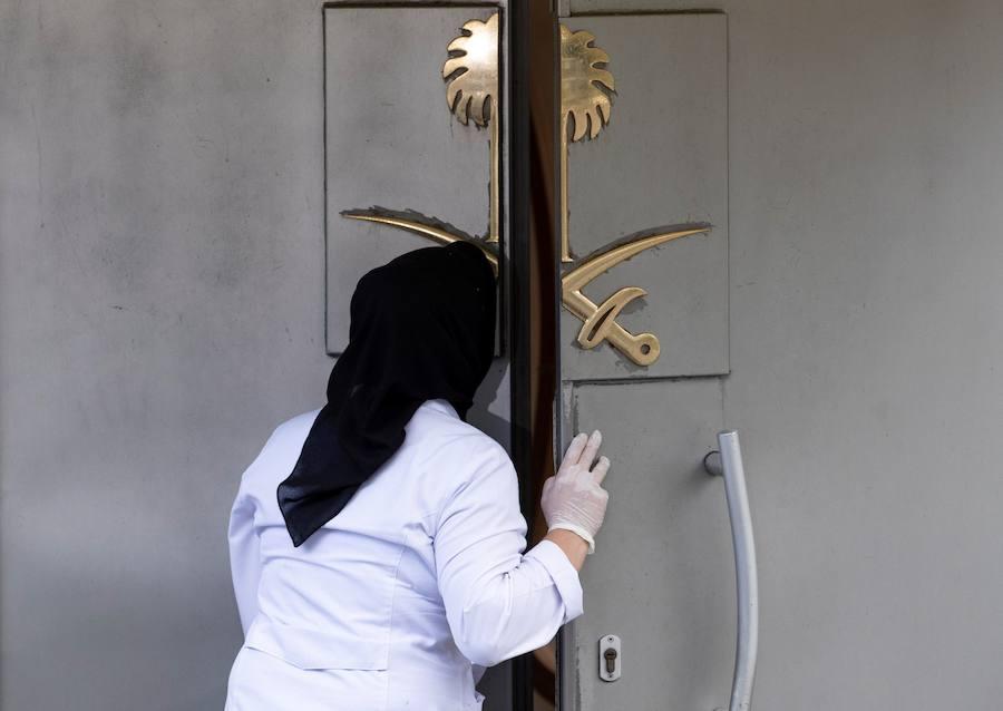 Los policías turcos, a la espera de registrar la residencia del cónsul saudí