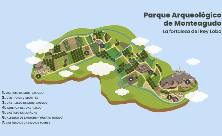 Parque arqueológico de Monteagudo. La fortaleza del Rey Lobo