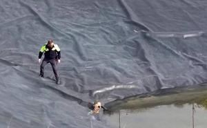 Rescatan a 7 cachorros de perro de una balsa de riego en Las Torres de Cotillas