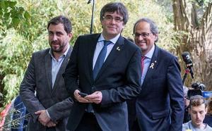 Torra y Puigdemont pondrán en marcha el consejo de la república el 30 de octubre