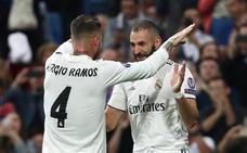 El Madrid sufre para ganar al descanso