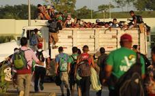 La caravana de migrantes retoma su travesía por México