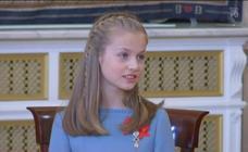 Así será la primera intervención en público de la princesa Leonor