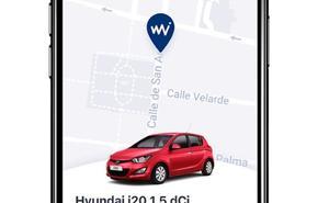 Una llave digital que abre el coche de alquiler desde el móvil