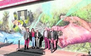 Un nuevo mural para ensalzar la huerta