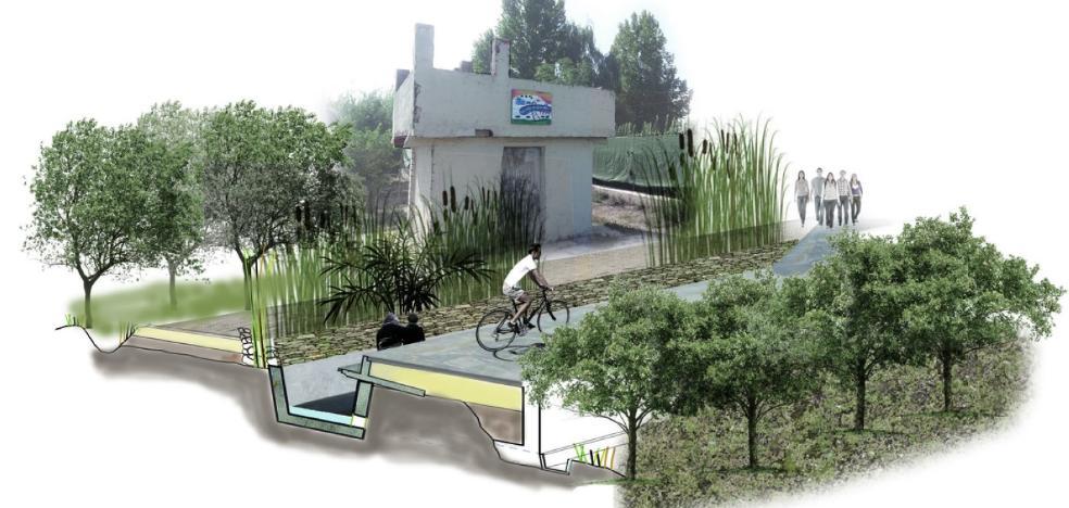 Un alumno de la Politécnica diseña un corredor ecológico desde La Ñora a Monteagudo