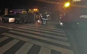 Cuatro heridos en un accidente de tráfico en Lorquí
