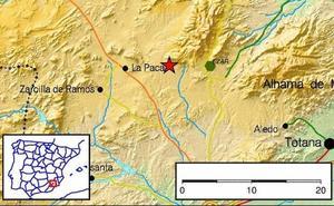 Un seísmo de 2 grados de magnitud sacude el norte de Lorca