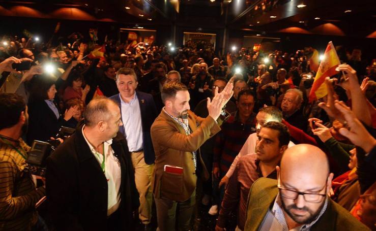 Mitin de Vox en el Hotel Nelva de Murcia