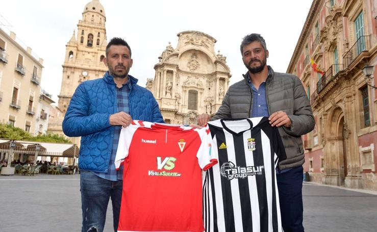 Piropos, solidaridad y compañerismo antes del Real Murcia-FC Cartagena
