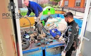 Detenido un vecino de Alhama por robar motos para desguazarlas