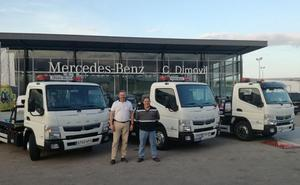 Comercial Dimovil completa la flota de Grúas Belén con la entrega del Fuso Canter híbrido