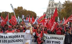 Justicia cifra el seguimiento de la huelga de funcionarios en la Región en un 21,5%