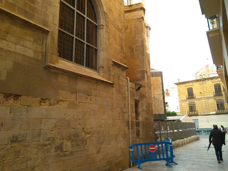 Huermur, satisfecha ante la apertura del expediente para reparar la fachada de la catedral de Murcia