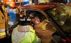 Herida en un choque en la Ronda de Levante de Murcia
