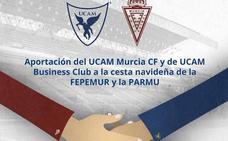 El UCAM CF donará productos para la cesta navideña de la Plataforma de Apoyo al Real Murcia