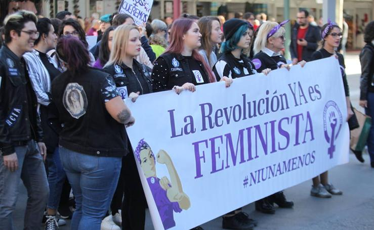 Manifestación para la «erradicación de la violencia machista» en Murcia