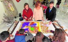 Futuros artistas de la aguja en Lorca