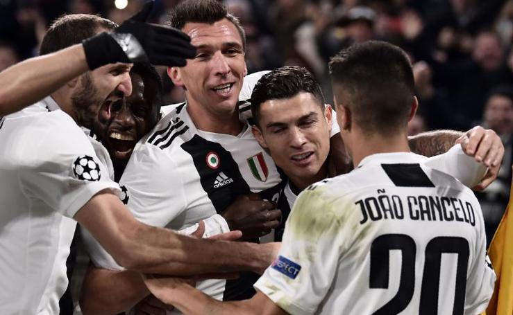 El Juventus-Valencia, en imágenes
