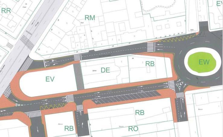 Zona donde se expropiarán 2.500 metros cuadrados para crear un nuevo acceso a la estación