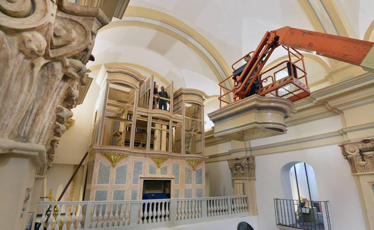El segundo órgano más grande dela Región se instala en El Carmen