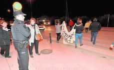 Protesta vecinal en el camino Marín