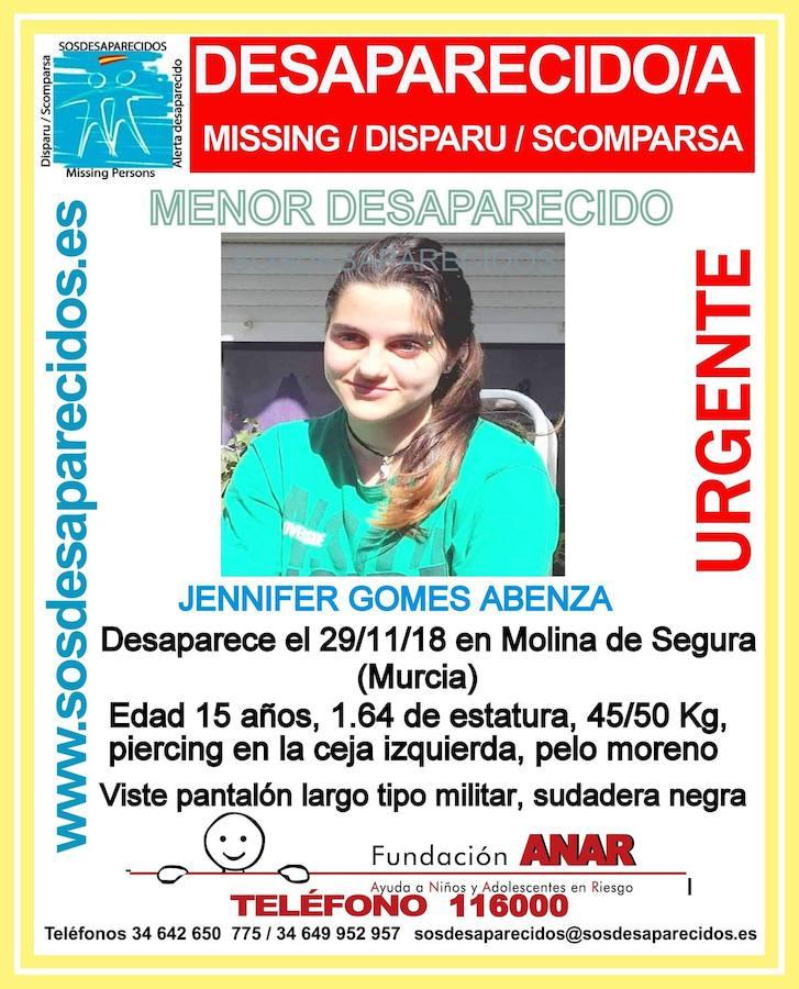 Desaparece una chica de 15 años en Molina de Segura