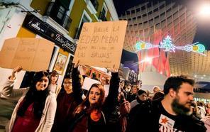 Manifestaciones multitudinarias contra Vox en Andalucía