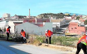Contratan a 33 parados para tareas de desbroce en Archena