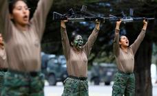 Mujeres preparadas para la guerra