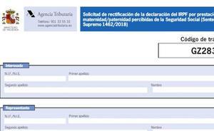 Formulario de Hacienda del IRPF por maternidad o paternidad: cómo rellenarlo para solicitar la devolución