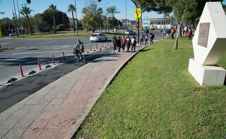 De sur a norte por el nuevo carril bici de Murcia