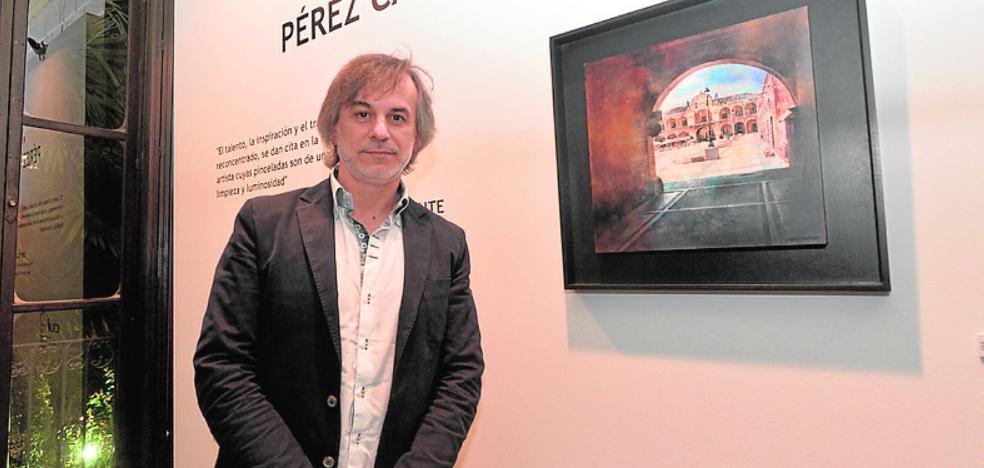 El pintor Pérez Casanova, en Huerto Ruano