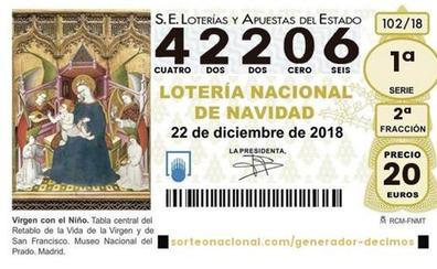 Lotería de Navidad: El cuarto premio recae en el número 42206