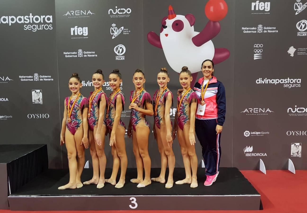Bronce para el conjunto infantil del club Cronos de Murcia de gimnasia rítmica