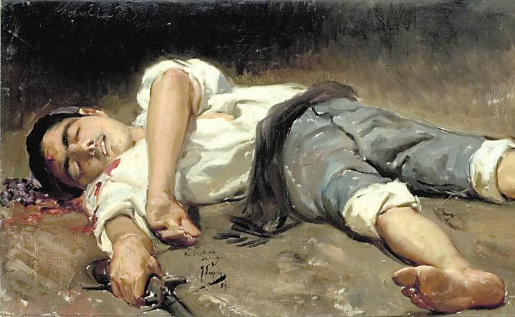 1918, Sorolla visita al pintor Joaquín y a «los Salzillos»